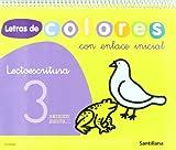 Letras de colores, lectoescritura, Educación Infantil. Cuaderno 3
