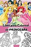 Libro para colorear de princesas 50 diseños: excelente regalo para niñas de 4 a 8 años de edad
