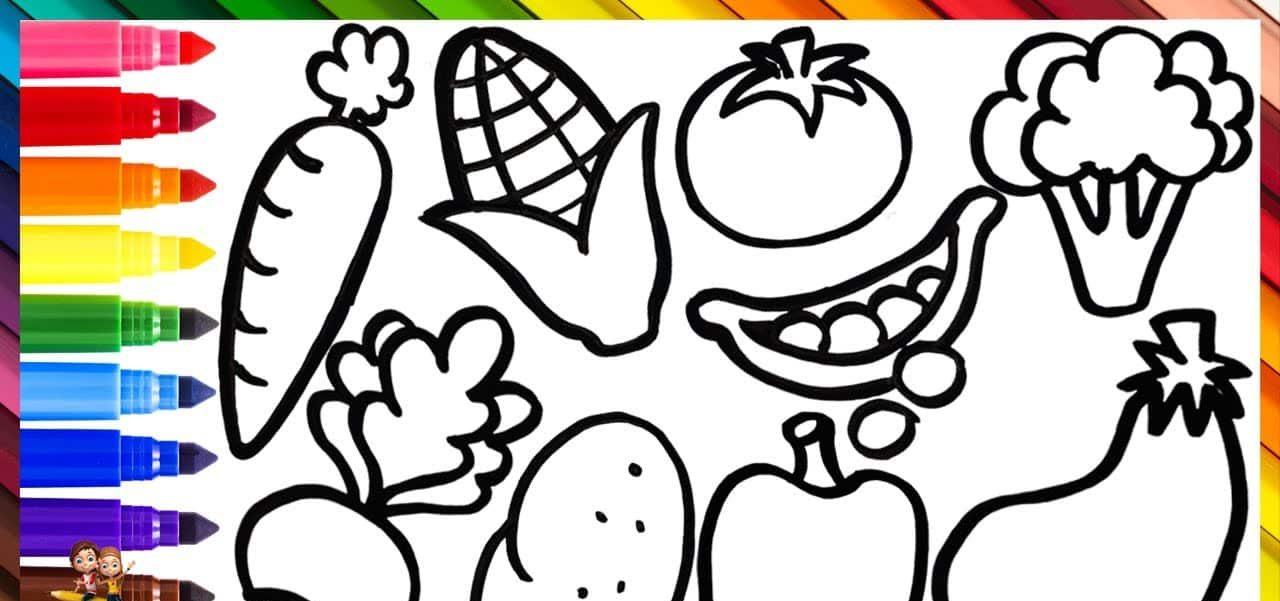 Libros para colorear de frutas y verdura